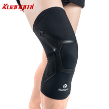 Kuangmi 1 piece Knee Pads Sports Compression Knee High Quality Patella Protector Sleeve Support Silicone Non-slip Volleyball(China)