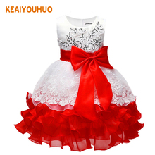 Summer Flower Girl Dress Ball gowns Kids Dresses For Girls Party Princess Girl Clothes For 3 4 5 6 7 8 Year Birthday Dress(China)
