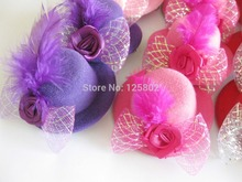 Hot Hair Clips Feather Rose Top Cap 6pcs randomly Party Jewelry accessories hairgrips