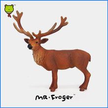 Mr.Froger Elk Model Toy Wild animals toys set Zoo modeling plastic Solid moose wapiti deer Classic Toy Children Animal Models