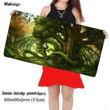 Nature Forest Trees Dragon DIY Custom Rubber Mousepad 900*400mm Gaming Mouse Pad Mat Laptop Keyboard Mat XLFor CSGO  Mouse Pads