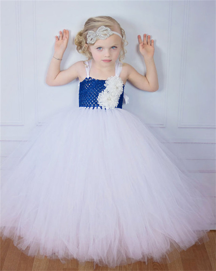 Strap Flower Girl Kids Dress Children Princess Gowns for Girls Wedding Party Dresses for Little Girls Kids Birthday Outfit<br>