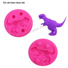 3D Dinosaur Dragon Shape Fondant Silicone Mold, Jelly Chocolate Soap Cake Decorating Tools cake pop recipe DIY F0827(China)