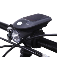Solar Energy Rechargeable USB Bike Lights Flashing Front Head Flashlight Cycling Bicycle LED Warning Lamp Sport Lighting New