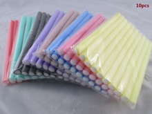Fast Shipping Wholesale 10pcs Lot Curler Makers Soft Foam Bendy Twist Curls DIY Styling Hair Rollers Tool for Women Accessories