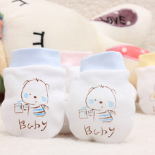 Cartoon Pattern Anti-grasping Gloves Four Seasons Newborn Safety For Newborn Protection Face Baby Mitten(China)