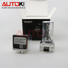 Free Shipping Original Yeaky 35W 12V Super Brightness HID Xenon Bulb  D3S HID Lamp for Bi-xenon Projector Lens 4500K 5500K 6500K