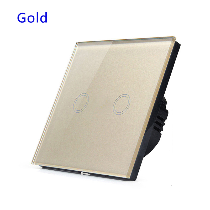 Remote control switch touch 2 Gang,waterproof crystal glass panel.EU/UK standard<br><br>Aliexpress