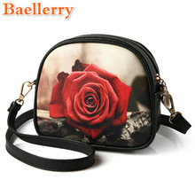 2017 Baellerry Elegant Socialite Women Handbags Exquisite Appliques Female Messenger Bags Graceful Cartoon Printings Lady's Bags
