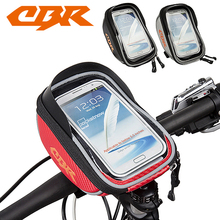 CBR Bicycle Bag 5.5 inch Waterproof Outdoor Cycling Mountain Road MTB Bike Bicycle bag Frame Front Tube Bag Cell Phone