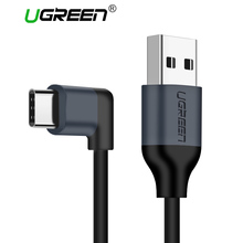 Ugreen USB Type C 90 degree Cable Samsung Galaxy S9 plus Nokia 8 Xiaomi Mi 8 6 MAX 3 USB C Fast Charging Data Charger Cable