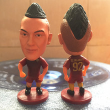 Soccerwe 2016-17 Season 2.55 Inches Height Football Dolls Serie A Roma Player 92 Shaarawy Doll for Fans Collections Red(China)