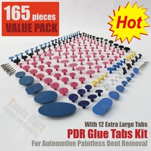165 pieces PDR Tools Glue Pulling Tabs PDR Glue Tabs Auto Body Dent Repair Tool Pulling Tabs TAB-165