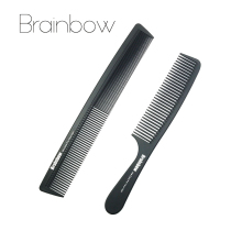 Brainbow 2pc Hair Combs Anti-static Carbon Hair Brushes Pro Salon Hair Styling Tools Hairdressing Hair Care Barbers Handle Brush(China)