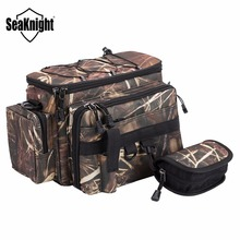 SeaKnight 16 New Fishing Bags SK002 Nylon Bags Camouflage/Green 35cm*20cm Multifunctional Fishing Bag +1p Spoon Bags for Fishing
