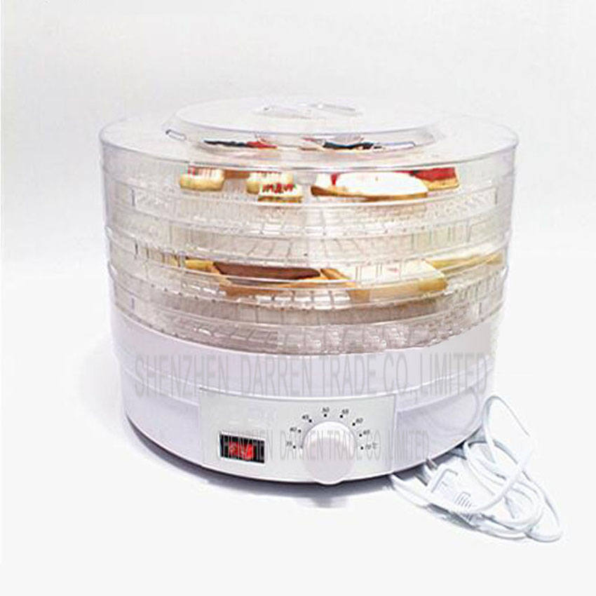 1PC Plug Food Dehydrator Fruit Vegetable Herb Meat Drying Machine Snacks Food Dryer Fruit dehydrator with 5 trays<br>