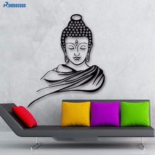 ROWNOCEAN Indian Buddha Religion Wall Decal removable Vinyl Sticker home decor Mural Room Decoration God Yoga Muursticker F-17
