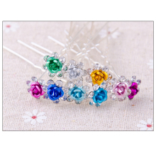 20pcs Wedding Hairpins Crystal Pearl Bride Hair Sticks Jewelry Ornaments Headdress Flower Hair Clips for Women Hair Pin Barrette(China)