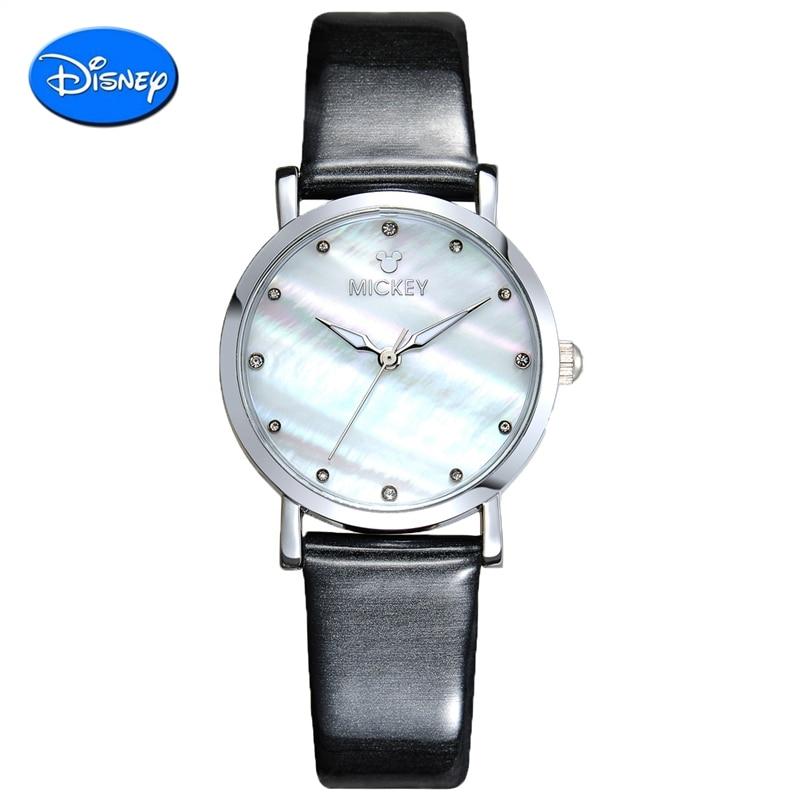 Genuine 100% Disney Mickey watch Luxury Quartz watch Fashion Women Watch Ladies Wristwatch relojes mujer montre femme<br>