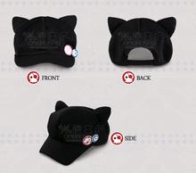 Spot Movie Evangelion EVA Asuka Cat Ears Hat Plush Hat Peaked Baseball Cap Casquette With Badge(China)