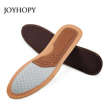 JOYHOPY Cowhide Sweat Absorption Insole Women & Men Comfortable Breathable Bamboo Charcoal Fabric Shoes Insoles Shoe Pad SC007(China)