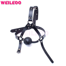 Buy harness 44mm perforated open mouth gag ball adult sex toys bdsm bondage set fetish slave bdsm sex toys couples adult games