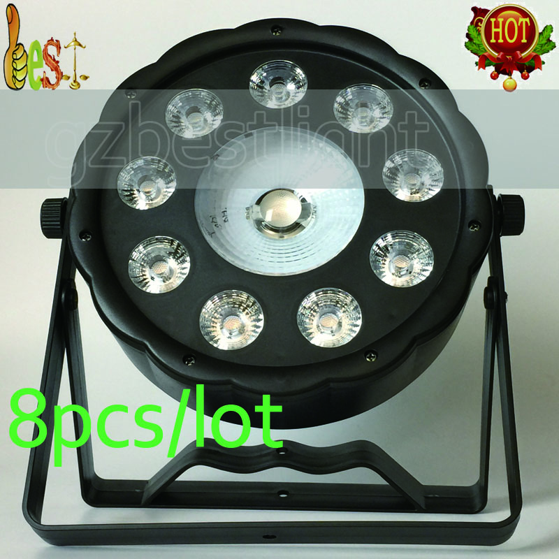 2017 NEW 8pcs/lot led par 9+1 9x9w tri-rgb and 30w cob rgb wash stage par led carnations light professional dj par lights<br>