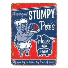 Buy House ham! dig swine,try mine. vintage tin signs retro metal plate wall decoration bar cafe garage for $5.00 in AliExpress store