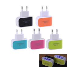 Candy Color 5V 3.1A US EU Plug 3 Ports USB Wall Home Travel AC Charger Adapter for iPhone 5s 6s 7 for Samsung S6 S7 for Huawei