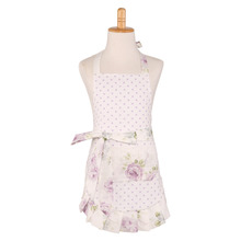 Neoviva Clear Kitchen Apron with Lining for Darling Kid Girls in Kitchen Garden Kathy White Floral Lilac Snow Aprons Kookschort(China)