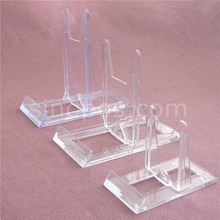 Clear movable display easel, plate tray dish ceramics tiles book cell phone picture adjustable plastic rack Art exhibition stand
