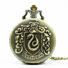 Vintage Pocket Watch Pendant Necklace Bronze Quartz Analog Fashion Men Women Gift(China)