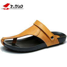 Genuine Leather Men Gladiator Sandals Breathable Male Casual Shoes Beach Seaside Slippers Flip Flops Sandalias Hombre XK052208(China)