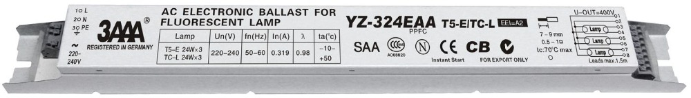 3AAA YZ-324EAA 220-240V 3*24W T5 Electronic Ballast For T5 HO Tube Fluorescent Lamp Free Shipping High Quality<br>