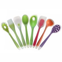 8 Styles Nylon Silicone Cookware Colorful Spoon Spatula Brush Colander Cooking Utensils Kitchen Tools