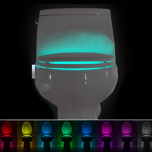 Sensor Toilet Light LED Lamp Human Motion Activated PIR 8 Colours Automatic RGB Night lighting 3A Battery Toilet Nightlights(China)