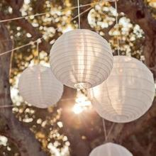 10pcs/lot 14 inch(35cm) White Color style paper lanterns   wedding lanterns paper lampshade holiday party supplies