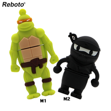 100% real capacity 4GB 8GB 16GB 32GB 64GB Cartoon sitting Raphael lovely USB Flash USB Flash Drives Pendrive USB Memory