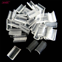 2000pcs  Fusion Keratin Nail U Tip Glue Rebonds / Re-bonds For Hair Extensions Tranparent White Color