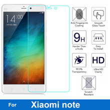 0.26mm Anti-Shock Front LCD Tempered Glass Film For Xiaomi Mi Note Pro mi note Screen Protector pelicula de vidro(China)