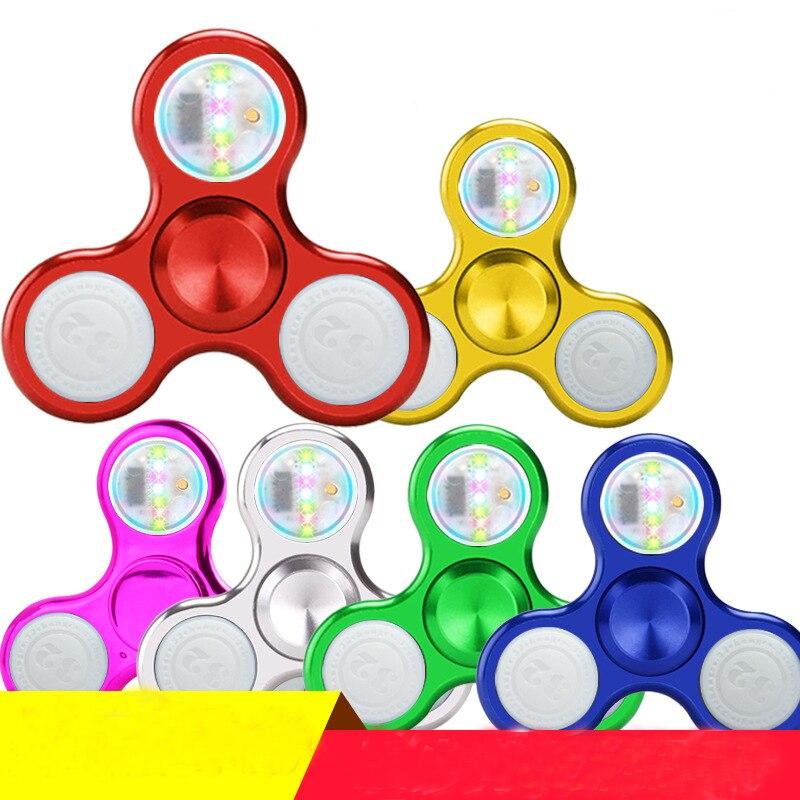 Light Fidget Spinner Led Stress Hand Spinners Glow In The Dark Figet Spiner Cube EDC Anti-stress Finger Spinner2
