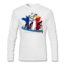 Long Sleeve Fit Party Tee Shirts Club Teenage Tour of Oman 2017 T France Flag Le Tour de France Graphics Mens tshirt Best(China)