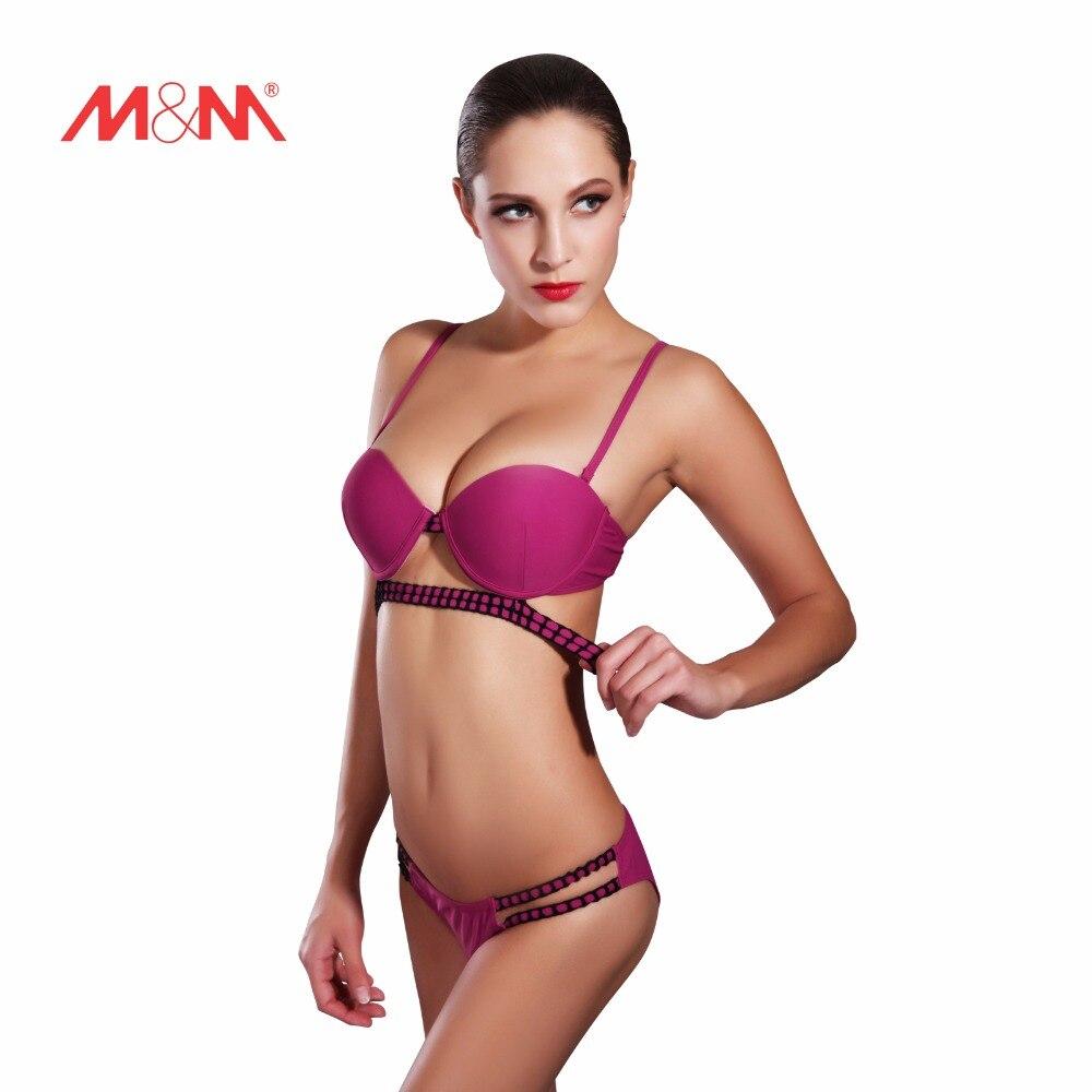 2017 Vintage Hot Charm Purple Push Up Bikini Swimsuit Sexy Bathing Bikini Set Swimwear Biquini Maillot De Bain SAKJ1640JHS<br><br>Aliexpress