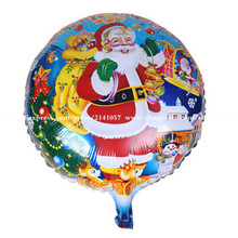 30pcs/lot New Christmas holiday Santa Claus cartoon style foil balloons decorated New Year baby toy glob children favorite gifs(China)