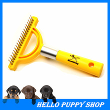 Pet Dog Cat Brushed Plastic Stainless Steel Products Professional Hair Grooming Comb Shedding Bath Brush for Animals Dogs Cats(China)