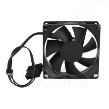 Hydro Bearing 7 Plastic Blades 4 Pin 12V DC 80x80x25mm Compuer Fan Cooler Brushless Cooling Blower Fan For Computer