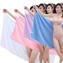 Bath Towels Fashion Lady Girls Wearable Fast Drying Magic Bath Towel Beach Spa Bathrobes Bath Skirt J2Y(China)