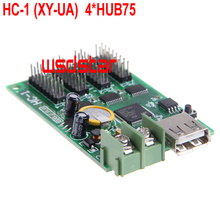 HC-1 XY-UA 4*HUB75 USB full color LED control card 192*128 384*64 Design for small size full color LED display