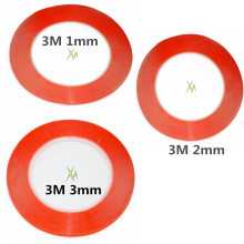 Mixed size 1mm 2mm 3mm 3M Double Sided Tape Sticky Red  for Mobile Phone LCD Pannel Display Screen Repair Housing free shipping