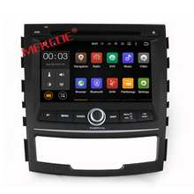 Android7.1 system car Autoradio for ssangyong korando 2010-2013 with Russian language mirror link free wifi functions dvd gps bt